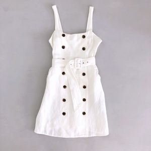 Forever 21 Woven White Dress Small NWT